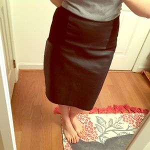 ASOS like leather skirt